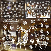 Removable Vinyl Christmas Art Sticker Xmas Party Home Glass Background Ornaments
