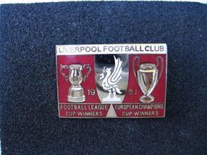 Liverpool Football Club Lapel badge 1981 Mint vintage, collectable, memorabilia