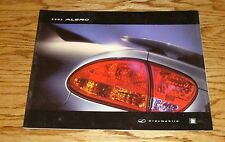 Original 2002 Oldsmobile Alero Deluxe Sales Brochure 02