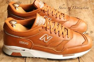 Men's New Balance 1500 Tan Leather English made Trainers Sneakers UK 9 US 9.5
