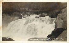 1920s RPPC Postcard 1042 Wooden Bridge over Indian Falls, CA Plumas County