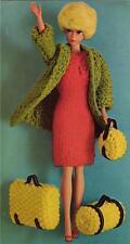 BARBIE / SINDY   TRAVEL SET 8ply or DK - COPY doll knitting pattern