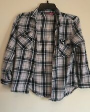 2 X PRIMARK CHECK SHIRT PINK TOP GIRLS SIZE 9-10 YEARS BLUE WHITE TOP BEIGE
