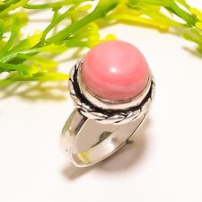Pink Lace Agate Gemstone Handmade Fashion Jewelry Ring Size 7.5 SR-532