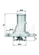 BEHR Thermostat passend für Fiat Doblo/Palio/Panda/Punto 01.86- Nr. TI 68 87D