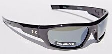 UNDER ARMOUR Power POLARIZED Sunglasses Shiny Black/Gray NEW Sport/Cycle $125