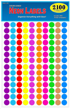 "Garage Sale Pup Pack of 2100 3/4"" Round Color Coding Circle Dot Labels, 10"
