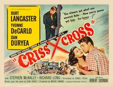 Yvonne DeCarlo, Burt Lancaster - Criss Cross (1958) - 11 x 14 LC Reprint
