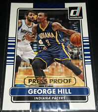 George Hill 2015-16 Panini Donruss PRESS PROOF GOLD Parallel Card (#'d 09/10)