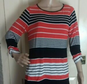 Marks and Spencer Woman size 16 red stripped top