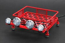 Jazrider 1/10 RC Car Truck Red Steel Luggage Roof Rack (Small)w/LED Light Type B