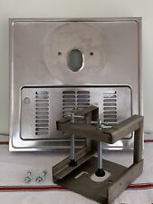More details for s.a. el aguila large stainless steel drip tray with clamp for ceramic beer pump