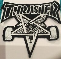 THRASHER IRON ON SEW ON PATCH 4 Inch X 4 Inch  BUY 2 GET 1 FREE = 3  OF THESE