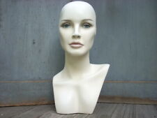 Vintage Mannequin Female Head Bust Wig Hat Jewelry Stand Store Display 175 H