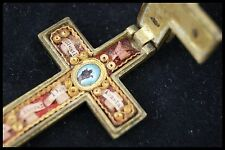 † BENEDICT PROTECT DNJC GILDED BRONZE ARMA CHRISTI CRUCIFIX / CROSS RELIQUARY †