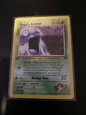 Pokemon Cards - Koga's Grimer - Mint Condition - Rare 1st Edition