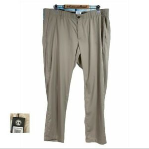 New UNDER ARMOUR City Khaki Showdown Tapered Sweat Wicking Golf Pants Size 36/32