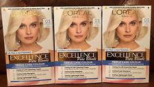 3pk L'Oreal Paris Excellence Creme Permanent Hair Dye, 03 Ultra-Light Ash Blonde