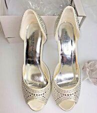 Allure Bridals Footwear Bridal Peep Toe Heels Sparkle Bling Sz 9 NWT!!