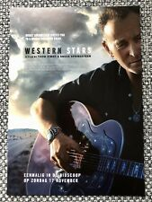 BRUCE SPRINGSTEEN - PROMO FLYER - WESTERN STARS (2 lp blue coloured vinyl tour)