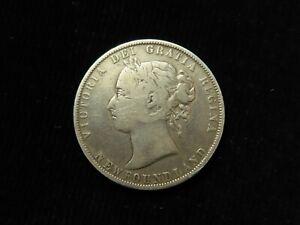 Canada, Newfoundland, Queen Victoria Silver 50 Cents 1900