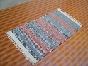 2'x5 'Multi-color Kilim Rug Hand Woven Wool Runner Yoga Mat Turkish carpet