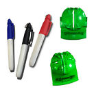 New Golf Ball Marker Line Tool Pack with 3 color pens Swing Putting Template Set