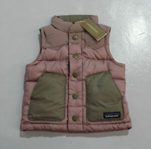 Patagonia Girl's Baby Bivy Down Vest TM8 Artifact Pink Suze 12-18 Months NWT
