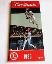 1980 ST LOUIS CARDINALS MLB Media Guide Baseball Book Original Roster,Stats,Pics