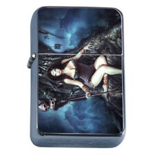 Hot Anime Witches D15 Flip Top Dual Torch Lighter Wind Resistant