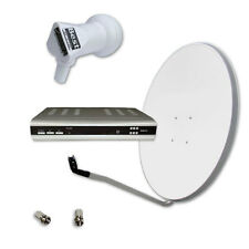 Sat Anlage mit Digitaler SAT-Receiver, 60cm, 0.1LNB