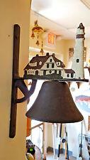 Vintage Cast Iron Lighthouse Bell Wall Décor No Maker's Mark Nautical Seaside