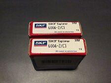 2-SKF bearings #6004-Z/C3, 30day warranty, free shipping lower 48!