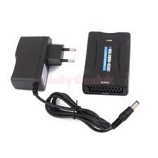 HDMI to SCART 1080P Composite Video Converter Stereo Audio Adapter -EU Plug