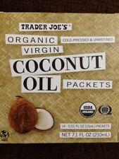 Trader Joe's Organic Virgin Coconut Oil Packets Cold Pressed Unrefined