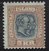 Iceland - 1907 - Scott # 85 - Mint OG Lightly Hinged        $190