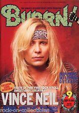 Burrn! Heavy Metal Magazine September 1993 Japan Vince Neil Deep Purple Outrage