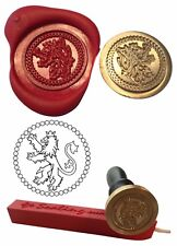 Wax Stamp, RAMPANT LION Scotland Coin Seal and Red Wax Stick XWSC068-KIT