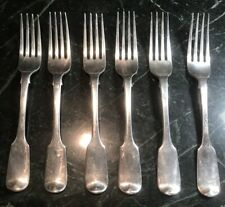 Rare set of six Sterling silver dinner Forks By Francis Howden London Made 1829