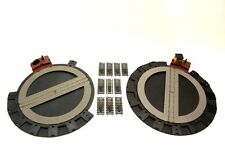 2 Hornby Turntables OO Gauge with track SPARES PARTS DA1 U5