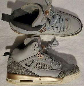 Nike Sz 8.5Y / Women's 9.5 Air Jordan Spizike GG Wolf Grey/Dark Grey 535712 018
