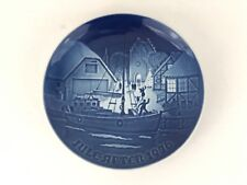 Jule After 1976 Christmas Plate Gift Bing & Grondahl Made in Denmark New in Box