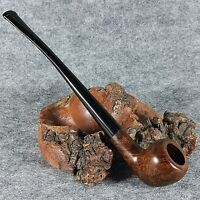 "EXCLUSIVE HAND MADE - SMOOTH BRIAR wood smoking pipe _"" SERVANT "" Brown smooth"