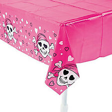 PINK PIRATE PARTY ~ Pirate Tablecover / Tablecloth 137 cm x 274 cm Free Postage
