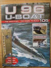 Hachette U96 U- Boat model submarine parts and instruction magazine Issue 105