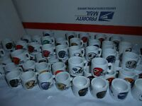 1 1990's NFL FOOTBALL MINI PORCELAIN MUG CUP YOU CHOOSE TEAM + 5 BONUS CARDS