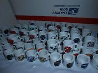 1 1990's NFL FOOTBALL MINI PORCELAIN MUG CUP YOU CHOOSE TEAM + 5 BONUS CARDS