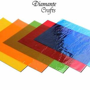 48 Cellophane Sheets A4 - Colourfast Acid Free - Mixed Colour Pack