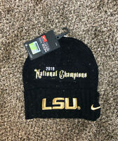 LSU TIGERS 2019 National Champions NIKE Official Locker Room Hat Cap Beanie Snow