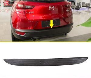 Black Rear door Bumper Protector Sill plate cover trim For Mazda cx3 2017 2018